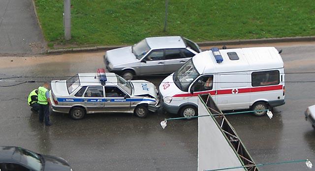 russian police russian ambulance
