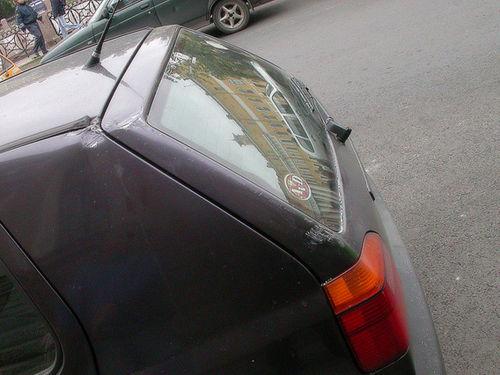 volkswagen was almost not damaged