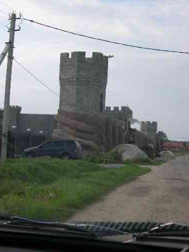 if you travel closer to russian village you can see a real castle