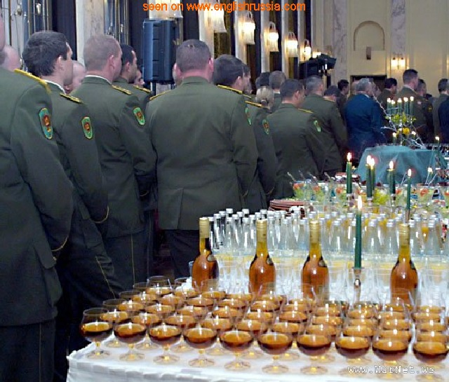 russian military men are fond of drinking