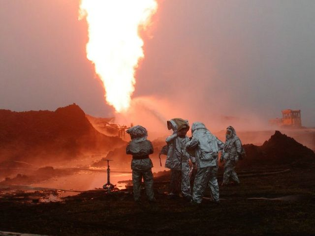 fire on the russian oil well part 5