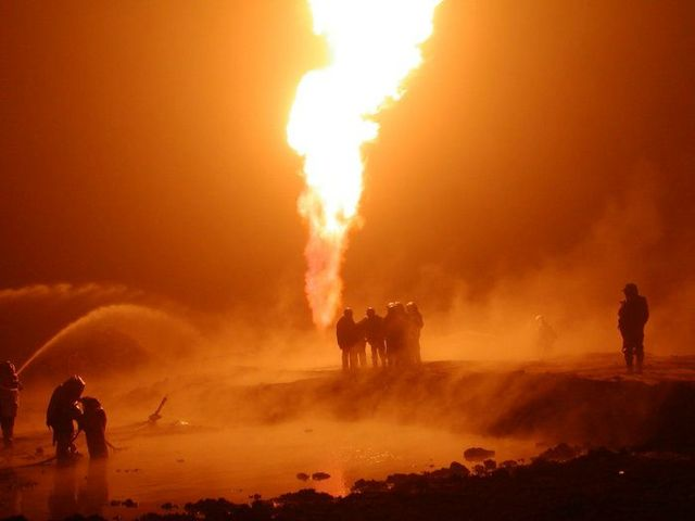 fire on the russian oil well part 6