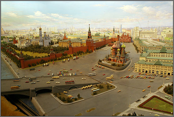This is Moscow city scale model