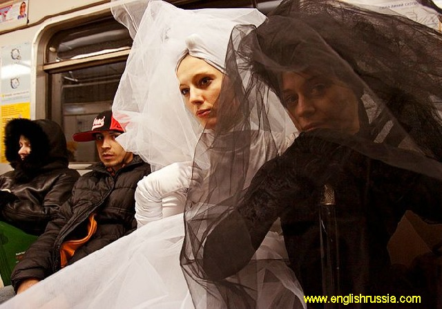 russian brides in moscow city subway
