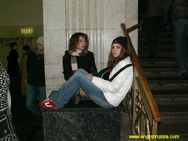 more of russian girls in moscow city subway