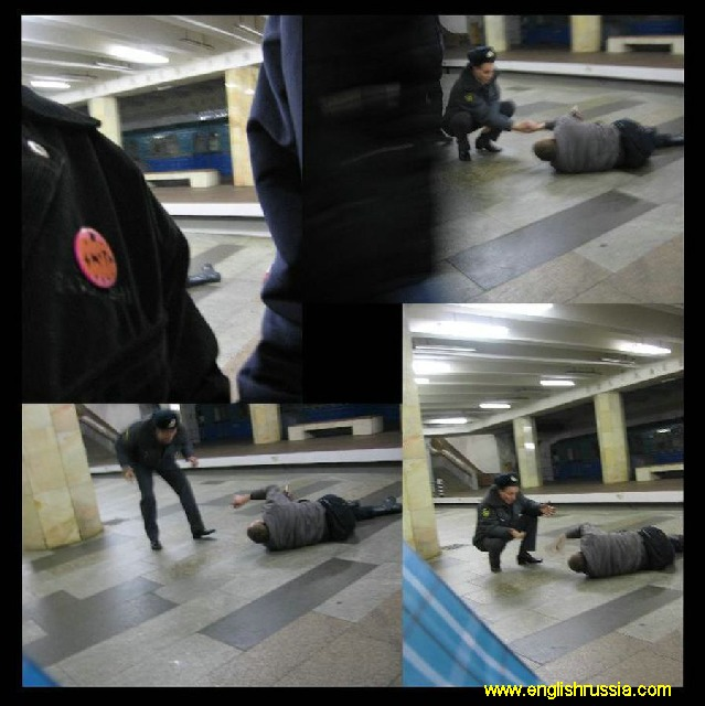 russian police in moscow city subway