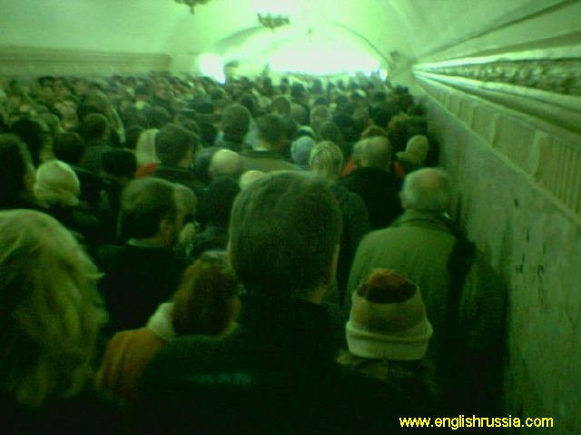 crown or even a traffic jam in moscow city subway