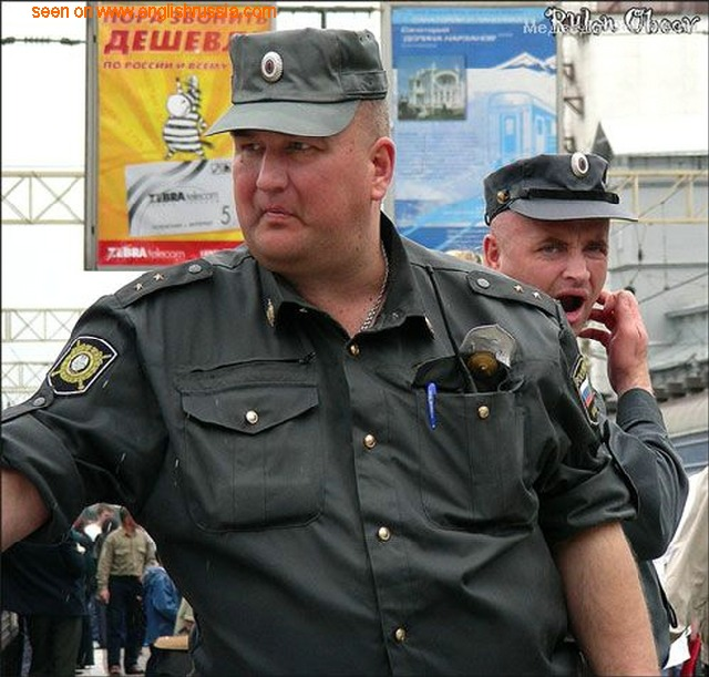 russian police on the streets of russia