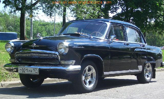 Take russian car from 1970s, volga gaz-21 like on the picture below